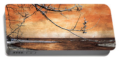 Barrier Beach - Old Woman Creek - Sunset Portable Battery Charger