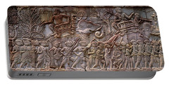 Bas Relief Angkor Wat Cambodia Portable Battery Charger