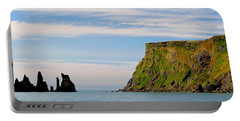 Basalt Rock Formations In The Sea, Vik Portable Battery Charger