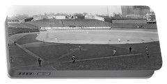 Baseball At Yankee Stadium Portable Battery Charger by Underwood Archives