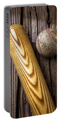 Baseball Bat And Ball Portable Battery Charger by Garry Gay