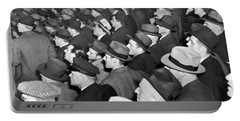 Baseball Fans At Yankee Stadium For The Third Game Of The World Portable Battery Charger by Underwood Archives