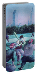 New York Central Park Baseball - Watercolor Art Portable Battery Charger