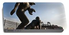 Baseball Statue At Citizens Bank Park Portable Battery Charger