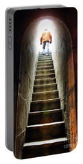Basement Exit Portable Battery Charger by Carlos Caetano