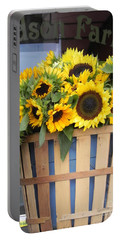 Basket Of Sunshine Portable Battery Charger by Chrisann Ellis