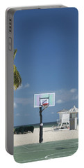 Basketball Goal On The Beach Portable Battery Charger
