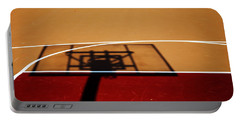 Basketball Shadows Portable Battery Charger by Karol Livote