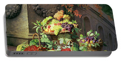 Baskets Of Summer Fruits Portable Battery Charger by William Hammer