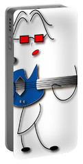 Portable Battery Charger featuring the digital art Bass Guitar Girl by Marvin Blaine