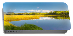 Bass Harbor Marsh Panorama Acadia National Park Photograph Portable Battery Charger by Keith Webber Jr