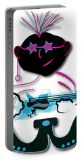 Portable Battery Charger featuring the digital art Bass Man by Marvin Blaine