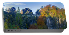 Bastei Bridge In The Elbe Sandstone Mountains Portable Battery Charger