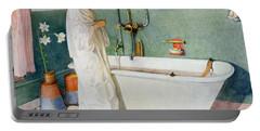 Bathroom Scene Lisbeth Portable Battery Charger