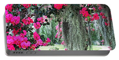 Baton Rouge Louisiana Crepe Myrtle And Moss At Capitol Park Portable Battery Charger