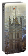 Battersea Power Station And Victoria Tower London Portable Battery Charger