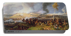 Battle Of Moscow Portable Battery Charger by Louis Lejeune