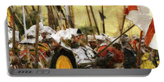 Portable Battery Charger featuring the digital art Battle Of Tewkesbury by Ron Harpham