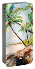 Bavaro Tropical Sandy Beach Portable Battery Charger by Carlin Blahnik