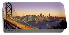 Bay Bridge At Night, San Francisco Portable Battery Charger
