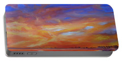 Bay Of Hythe On Fire Portable Battery Charger by Beatrice Cloake