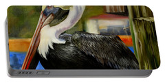 Portable Battery Charger featuring the painting Bay St. Louis Pelican by Phyllis Beiser
