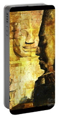 Bayon Khmer Temple At Angkor Wat Cambodia Portable Battery Charger