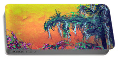 Portable Battery Charger featuring the painting Bayou Honeymoon by Alys Caviness-Gober