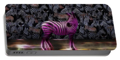 Be Courageous - Be Different - Zebra Portable Battery Charger