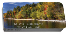 Be Still And Know That I Am God Portable Battery Charger