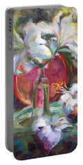 Be Still - Casablanca Lilies With Copper Portable Battery Charger