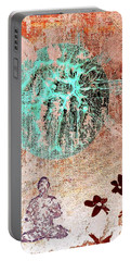 Portable Battery Charger featuring the painting Be The Buddha by Jacqueline McReynolds