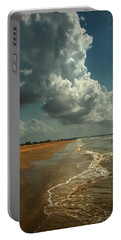 Beach And Clouds Portable Battery Charger by Linda Unger