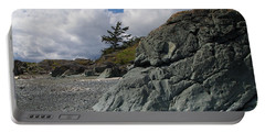 Beach At Fort Rodd Hill Portable Battery Charger