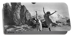 Beach Ball Dancing Portable Battery Charger by Underwood Archives