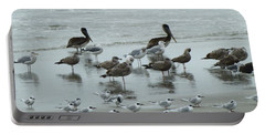 Beach Birds Portable Battery Charger by Judith Morris