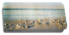 Beach Combers - Seagull Art By Sharon Cummings Portable Battery Charger by Sharon Cummings