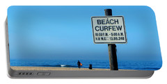 Beach Curfew Portable Battery Charger by Tammy Espino