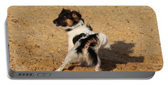 Beach Dog Pose Portable Battery Charger