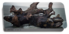 Beach Driftwood In Color Portable Battery Charger