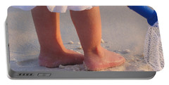 Portable Battery Charger featuring the photograph Beach Feet  by Nava Thompson