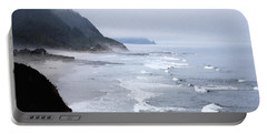 Beach Frontage In Monet Portable Battery Charger by Sharon Elliott