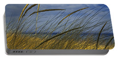 Beach Grass On A Sand Dune At Glen Arbor Michigan Portable Battery Charger