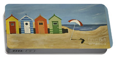 Beach Huts Portable Battery Charger