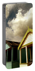 Beach Huts Portable Battery Charger by Vicki Spindler