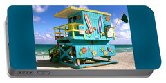 Beach Life In Miami Beach Portable Battery Charger