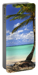 Beach Of A Tropical Island Portable Battery Charger