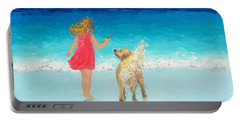Beach Painting 'sunkissed Hair'  Portable Battery Charger