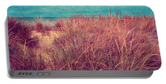 Beach Path Through The Grasses Portable Battery Charger