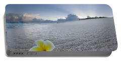 Beach Plumeria Portable Battery Charger